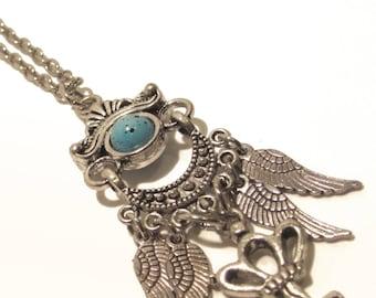 Elegant Silver & Turquoise Necklace