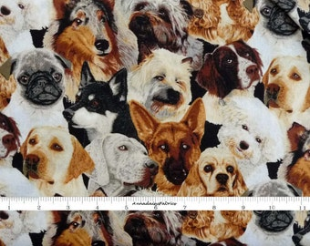 Dog Fabric, Fabric Traditions 1697Z Beautiful Dogs by Patty Reed, Dog Fabric, Fabric With Dogs, Craft Weight Fabric, Cotton
