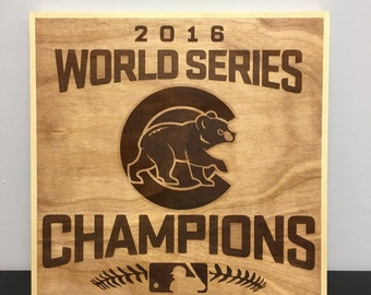 Chicago Cubs World Series Champions Sign
