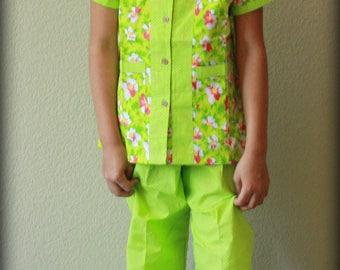 Flower Polka Dots Girls Pajama / Easter