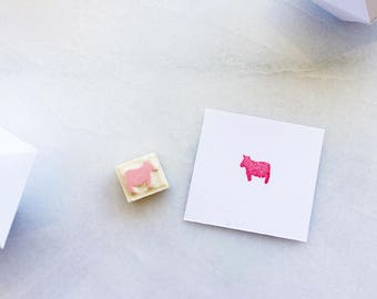 Beef meal option, rubber stamp, hand carved rubber stamp, wedding meal option, food option