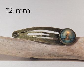 Hair clip Love Robot  SNAP 12 mm diam. Antique Bronze