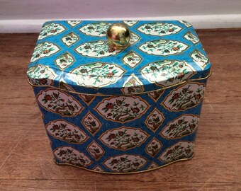 Vintage Floral Tin with Lid