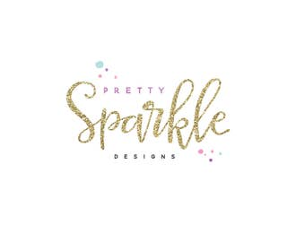 Glitter Logo  , Confetti Logo & Calligraphy , Modern Logo , Perfect For Your Business!