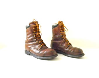 Vintage Men's Redwing Brown Leather Boots Size 11