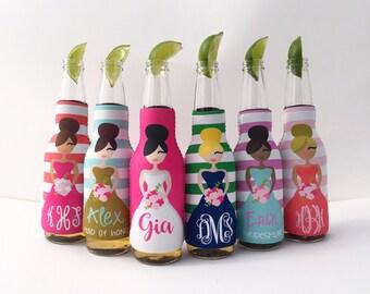 Bridesmaids/Bachelorette Bottle Hugger/Beverage Insulator
