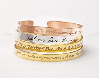 20% off Handwriting Bracelet / Handwritten Bangle /  Silver Handwritten Bracelet / Signature Bracelet / Memorial gift JB02