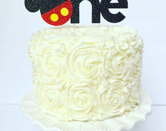 Mickey One Cake Topper / First Birthday / I am One