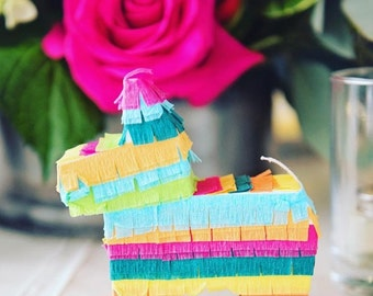 Mini Pinata, (6) Party Favor, Fiesta Decorations, Mexican Wedding Favors, Mini Donkey Pinatas, Fiesta Decorations, Cinco de Mayo, Set of 6