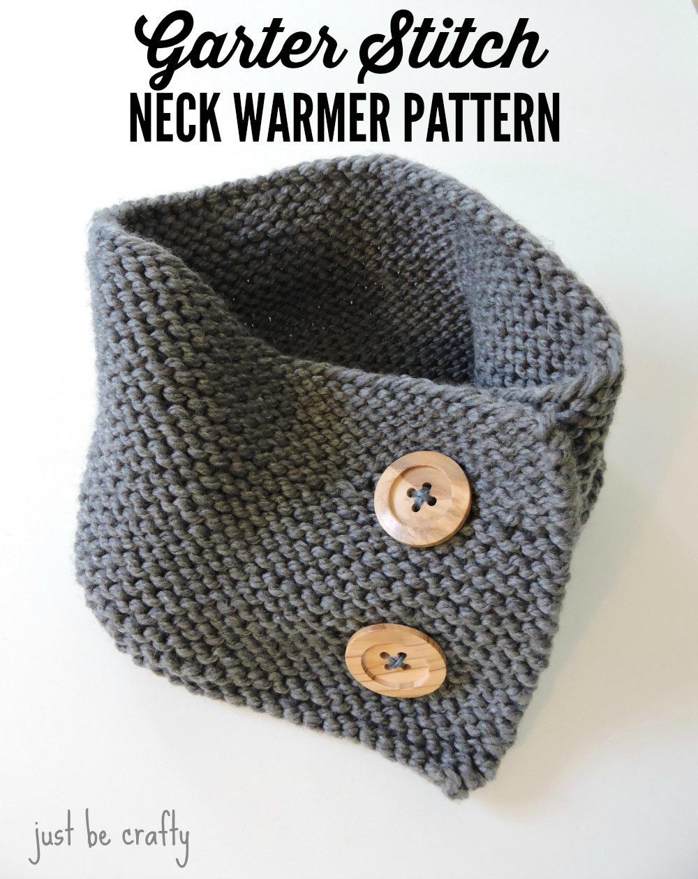 Garter Stitch Button Up Neck Warmer Pattern, Neck Warmer ...