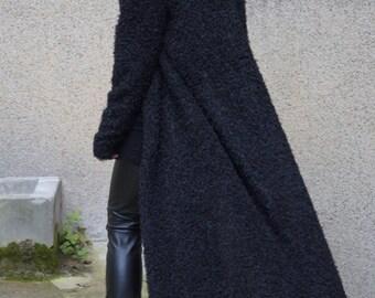 Fluffy Cardigan/Droped Cardigan/Long Cardigan/Longline Cardigan/Long Sleeve Push Cardigan/Fashion Cardigan/F1512