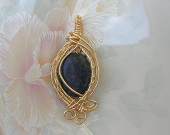 """Sodalite Wire Wrapped Fairy Gemstone Pendant """"Divine Insight"""" Amulet of Truth, Clear Intuition, Insight / Sodalite Gemstone Amulet Pendant"""