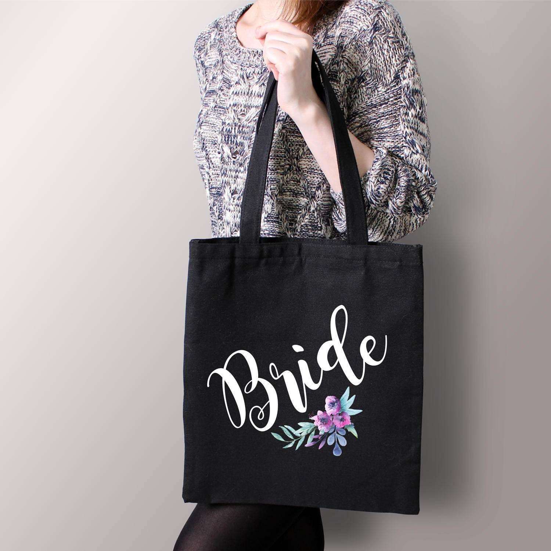 Bride Tote Bag Bride Gift Bride Bag Personalized Bag Wedding