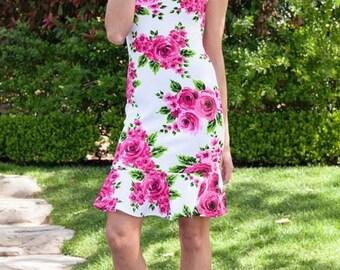 Field Of Flowers - floral dress, womens dress, summer dress, spring dress, beach dress, dresses,