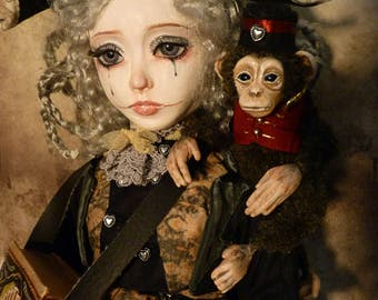 Capucine, Handmade Doll, unique piece