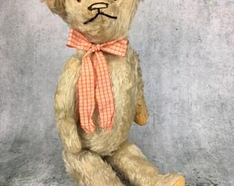 antique mohair teddy bear, antique teddy bear, vintage teddy bear