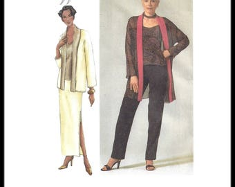 Vogue 7276 The Vogue Woman Sewing Pattern for Misses Jacket Camisole Skirt and Pants sz 8 thru 12 Uncut