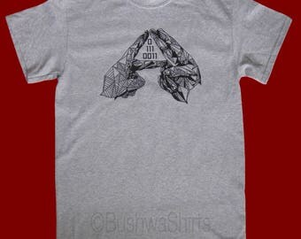 ALT+J 01110011 Inspired T Shirt Top Mens T-Shirt Tee Top Music Triangle Tesselate