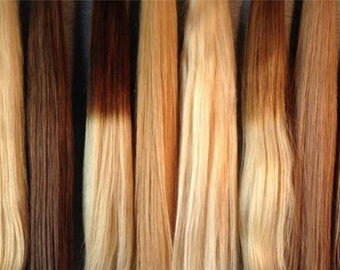 Pro hair extensions flat tip  italian keratin high grade 22 inch remy hair cuticule intact 25 strands of 1g each