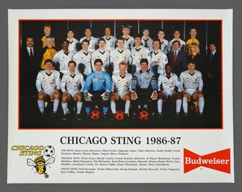 1986-87 Chicago Sting Indoor Soccer Club Poster 17 x 22