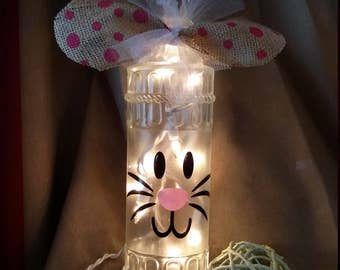 Easter hostess gift etsy easter bunny lighted bottledecorationlightlampbedroombathroomkitchen negle