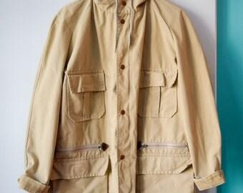 Men's beige field coat | S/M