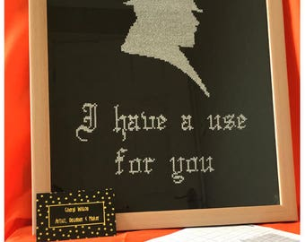 Taboo - I have a use for you -  Counted Cross Stitch PDF Pattern - Instant Download