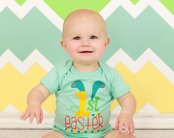 My First Easter Outfit - Baby Boy Easter Outfit - My First Easter Boy - Easter Baby Clothes - Easter Bodysuit - My First Easter - Baby Boy