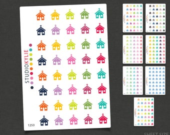 Church Icons -  Planner Stickers  - Repositionable Matte Vinyl to suit all planners