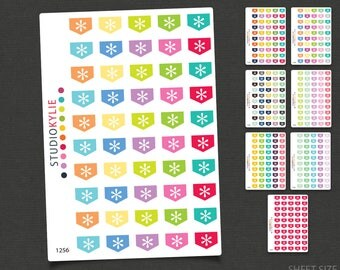 Mini Asterisk Flags -  Planner Stickers - Star Flags - Repositionable Matte Vinyl to suit all planners