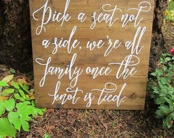Wedding seating sign, seating sign, seating chart, wood seating sign, pick a seat sign, wedding seating, rustic wedding sign, seating plan