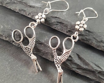 Sewing Scissor earrings - sewing jewellery - sewing gift - gift for a sewer - sewing earrings -  quilting gift - gift for her