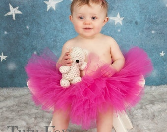 Pink Tutu with Headband, Pink Tutu Skirt, Tutu Set, Baby Tutu, Newborn Tutu, Girls Tutu with Headband, 1st Birthday Tutu, Smash Cake Tutu