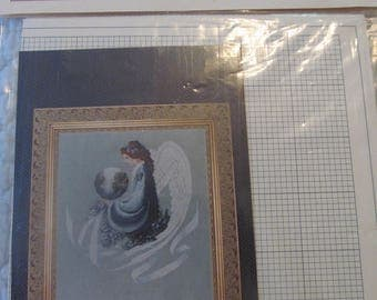 Lavender & Lace Earth Angel Counted Cross Stitch Graph