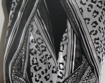 Summer Weight Animal Print Infinity Scarf, Made in USA