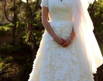 Bethany Modest Wedding Dress - Custom Made Wedding Dress - Wedding Dress with Sleeves - Wedding Gown - Modest Gown - LDS Wedding Dress