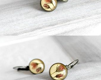 40% SALE jewelry Yellow earrings for girlfriend Handmade jewelry gift Delicate jewelry Romantic earrings On sale jewelry Pretty earrings