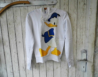 lovely Hoody / Hooded sweatshirt  from the 80s Walt Disney - Donuld Duck Size S