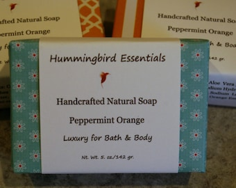 Peppermint Orange Handcrafted Soap