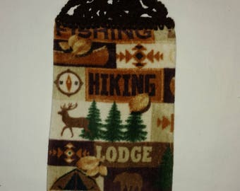 Camping, Hiking, Fishing Hanging Kitchen Towel