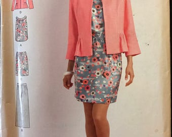 Simplicity S0510 - Sew Stylish Separates with Jacket, Top, and Pull on Pants and Skirt - Size 8 10 12 14 16