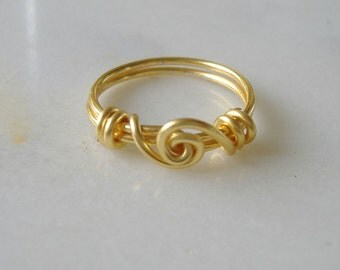 Scroll ring - golden ring - handforged ring - Nickel free ring - artisan ring - metalwork ring - boho chic ring - custom made ring - UK made