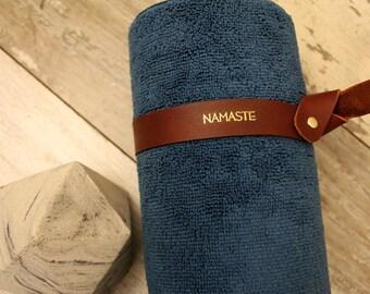 Yoga mat holder, yoga mat strap, leather yoga mat strap, personalized yoga mat strap, yoga mat carrier, yoga mat sling, blanket strap, yogi