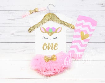 1st Birthday Onesie, First Birthday Onesie, First Birthday Girl Outfit, Woodland Deer Birthday Outfit, Girls Woodland Birthday