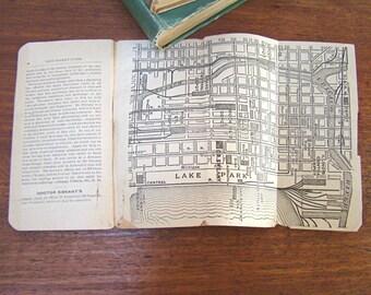 Antique Chicago Map; Vintage Map; Antique Chicago Guide; Chicago History; Vest-Pocket Guide of Chicago; 1890's; Antique Book; Vintage Book