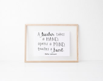 Hand lettered home wall art,motivational office print, typography teacher gift,mother sister holiday present,bedroom home decor quote