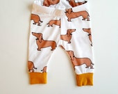 Baby leggings, baby boy clothes, dog baby leggings, unisex baby clothes, gender neutral, baby gift, wiener dog leggings