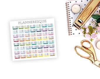 56 Book Stickers - Erin Condren Planner -  MI 0012