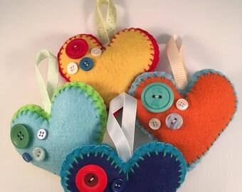 Handmade Felt Heart Decoration