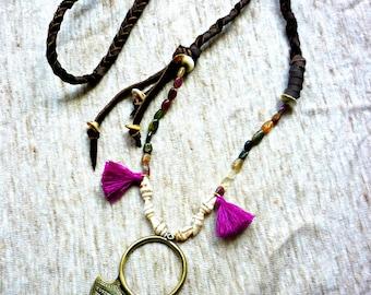 Mohana, tribal necklace Mixed Media. OOAK